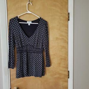 Ann Taylor Loft black striped blouse